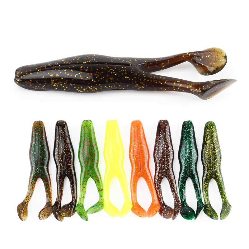 2Pcs Frog Soft Bait 105mm/15g Professional Artificial Bait Bass Green Frog Fishing Lures