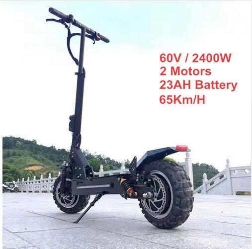 201811 pouces hors route Scooter électrique 60 V 2400 W 65 km/h puissant nouveau vélo électrique pliable pli hoverboad vélo scooters