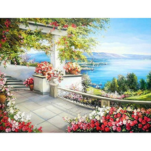 H1825 full square diamond painting,dimond painting full square,diamond embroidery Garden corridor h1616 dimond painting full square 3d diamond 5d full square diamond painting snow mountain aurora borealis