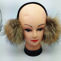 True Fur Earmuffs Big Big Raccoon Headphones South Korea Fur Headphones Beautiful People Warm Plush Ears