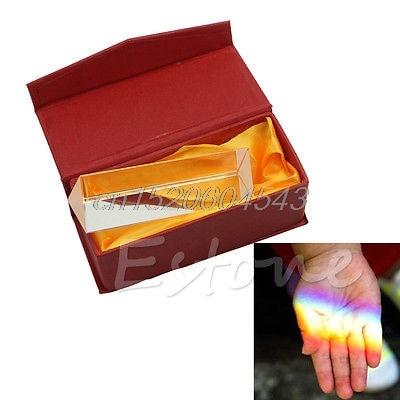 10cm 4 Optical Glass Triple Triangular Prism Physics Teaching Light Spectrum R02 Drop ship lhll physics education prism precision optical glass 4 inches