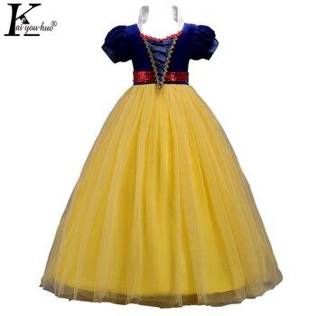 00793e2c1 Vestido de niñas Blancanieves nuevo verano Cenicienta niño vestido Carnaval  disfraz niños Pascua fiesta Vestidos para Niñas Ropa Vestidos
