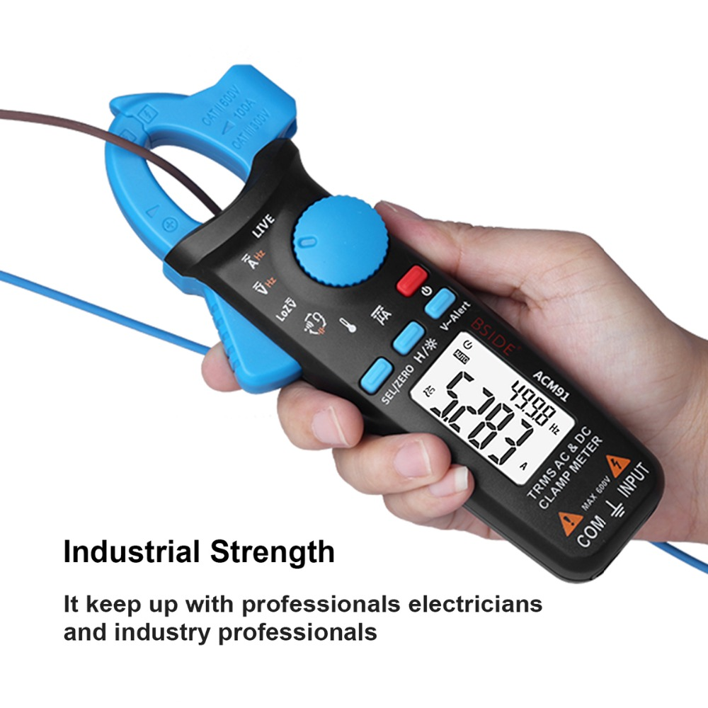 Bside 1mA TRMS Digital Clamp Multimeter AC/DC Current Capacitance Temperature Live Check V-alert Backlight with Pocket Clip велосипед silverback stride 29 d 2018