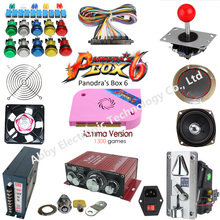 made in china Arcade  kit With Joystick Pushbutton Micro switch button Pandora Box 6  Game PCB to Build Up Arcade Machine