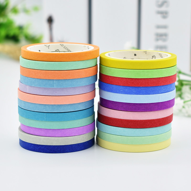 DIY Cute Kawaii Solid Color Masking Washi Tape Lovely Decorative Tape For Photo Album Diary Free Shipping 3433 9 2016 new 3d color printer dual kit for sale 3dprinter electronics with one roll filament masking tape 2gb sd card for free