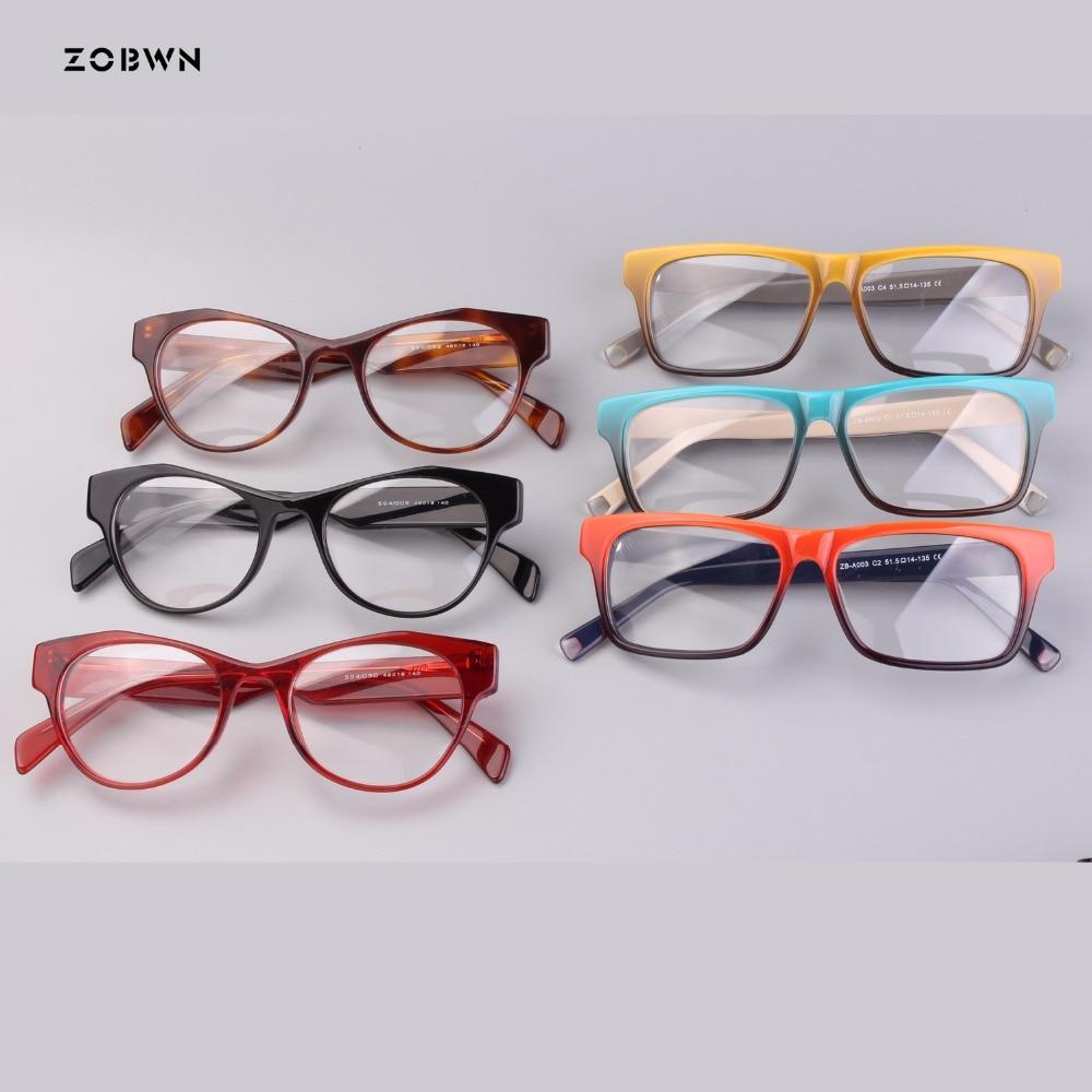 Brillen Gefilmt Retro Rahmen Für Weibliche Optische Großhandel Mix Verschreibungspflichtigen Gradienten Frauen Mode Dame Gläser x1AT6Y
