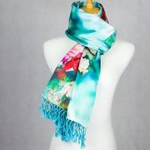 Шелк супер толстый пашмины пион женский шарф большой Шелковый платок Топ Дизайнер шелк длинный большой шелковая накидка Горячая Роскошная Леди подарок