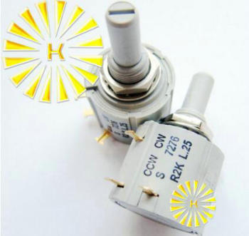 100% Original S 7276 R1K R2K R5K R10K R50K L2.5 2W Rotary Wirewound Potentiometer For BI  x 5PCS