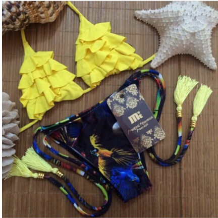 2015 Sexy Women's Bikini Set Bra Swimsuit Floral P...