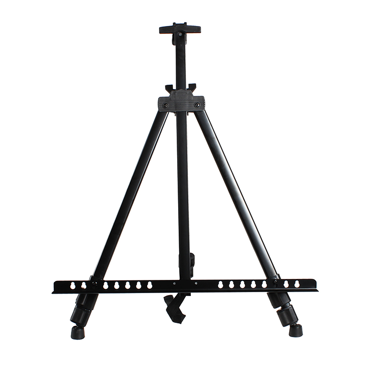 Collapsible iron sketching easel metal tripode madera sketch painting easel folding telescoping advertising display mini easel