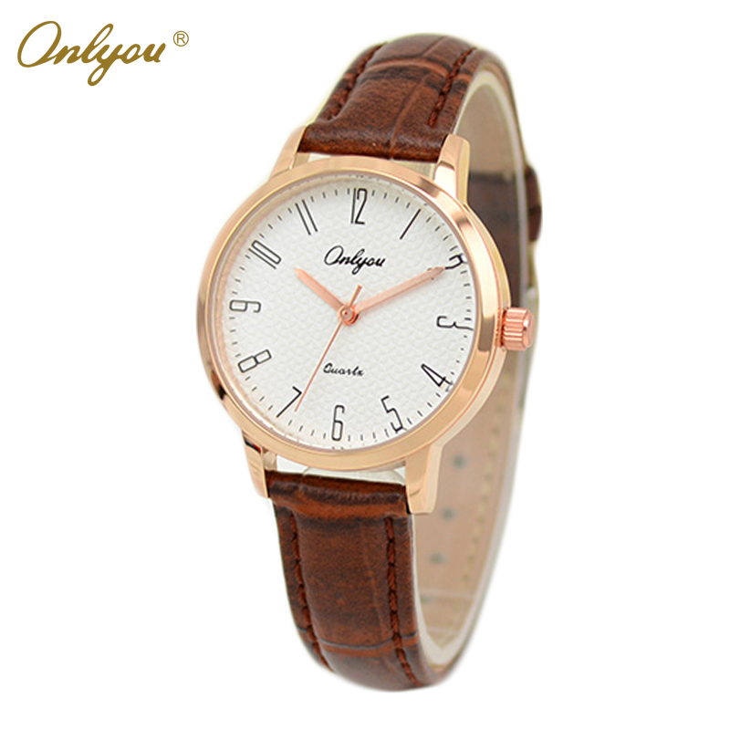 Onlyou Brand Women Men Lovers Watches Fashion Leather Quartz Watch Girls Boys Gifts Wristwatches Male Female Clock 81029 onlyou brand luxury watch men women fashion steel quartz watch wristwatches ladies dress watch male female clock watch 8890