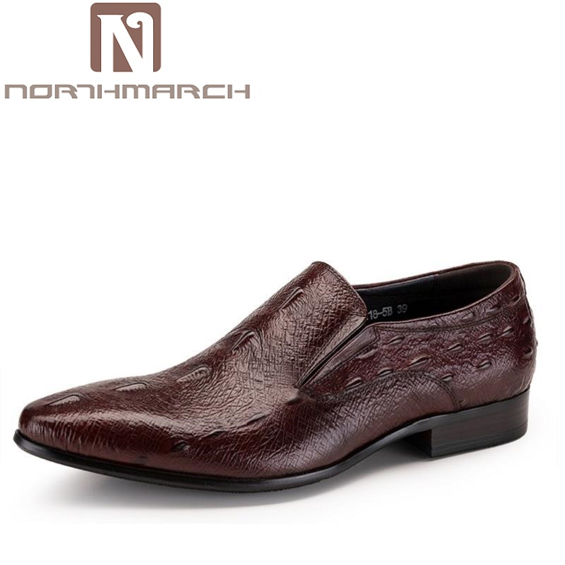 NORTHMARCH Top Quality Handsome Business Leather Men Dress Shoes Crocodile Pattern Brand Men Wedding Party Shoes AyakkabiNORTHMARCH Top Quality Handsome Business Leather Men Dress Shoes Crocodile Pattern Brand Men Wedding Party Shoes Ayakkabi
