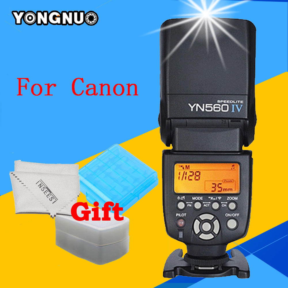 YONGNUO YN560IV YN560 IV Flash Speedlite For Canon EOS 6d 1200d 60d 5d3 1100d 650d 600d 7d DSLR Camera YN-560 IV Wireless Flash flashgun wireless speedlight flashlight flash speedlite for canon 60d 6d 650d 600d 5dii 7d dslr camera