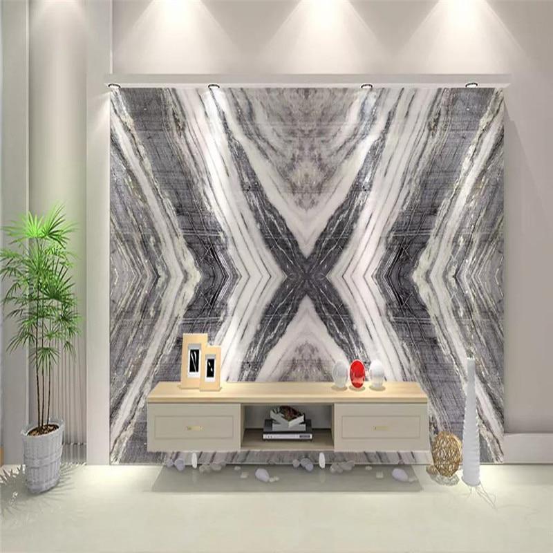 Customized modern blue sand Mediterranean wood grain stone background wallpaper mural high-grade waterproof material