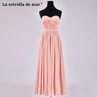 Plus size vestido de madrinha de casamento longo latest sexy sweetheart crystal a Line peach braidsmaid dresses cheap