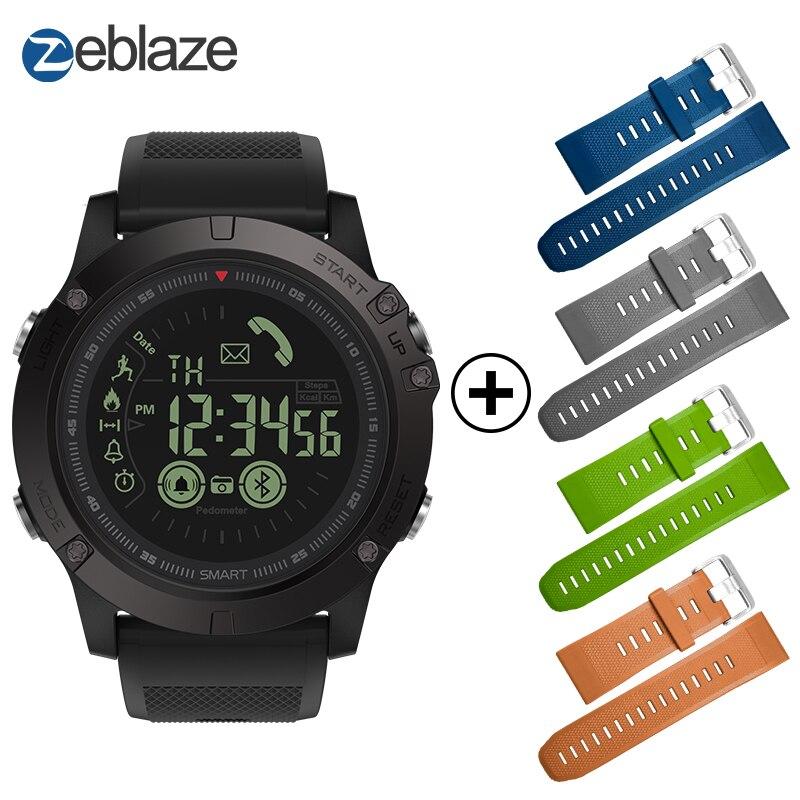 Heißer Zeblaze VIBE 3 Flaggschiff Robuste Smartwatch 33-monat Standby Zeit 24 h Alle-Wetter Überwachung Smart Uhr für IOS Und Android