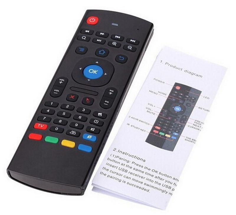 Prix pour 20 pcs, prix Usine 2.4G Télécommande Air Mouse Sans Fil Clavier pour MX3 Android Mini PC TV Box