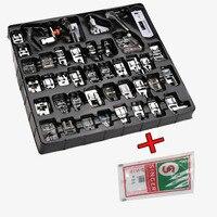 Envío Gratis hogar multifuncional de coser eléctrica piezas para máquina prensatelas 32 Uds prensatelas 42 Uds prensatelas