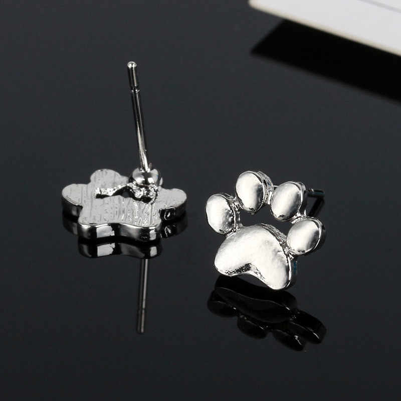 2017 Cute Footprint Paw Earrings for Women Tassut Cat and Dog Paw Earrings for girl Valentine's Day present