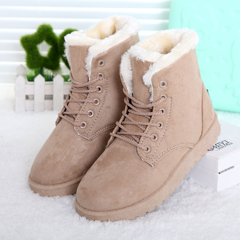 1b3bcf962722 Women Winter Boots Fashion Women Boots Botas Mujer Fur Snow Boots Women  Ankle Boots Flat Heels Winter Shoes Warm Snow Shoes