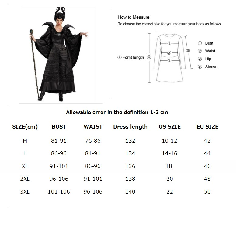 Image 2 - Halloween Party Adult Women Fantasia Sexy Maleficent Costume Sleeping Beauty Evil Witch Cosplay Fancy Dress-in Movie & TV costumes from Novelty & Special Use