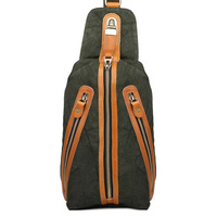 Outdoos New Male Chest Bag, Canvas Fabric Fashion Leisure Man Korea Style Seal Bag Messenger Shoulder Bag for Teenagers