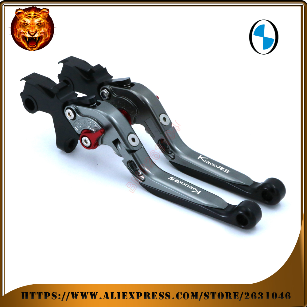 For BMW K1200RS 1200RS K1200 Motorcycle Adjustable Folding Extendable Brake Clutch Lever free shipping 2001 with logo (k1200rs) billet alu folding adjustable brake clutch levers for motoguzzi griso 850 breva 1100 norge 1200 06 2013 07 08 1200 sport stelvio
