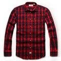 Бесплатная доставка плюс размер осенью и зимой мужская одежда жира европейская версия 5xl 6xl 7xl 8xl длинными рукавами фланелевой клетчатой рубашке