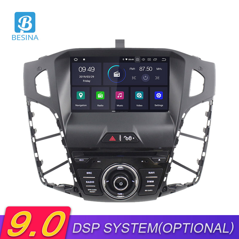 Besina Android 9.0 Car DVD Player For <font><b>FORD</b></font> <font><b>FOCUS</b></font> 2012 2013 2014 2015 2016 <font><b>2017</b></font> GPS <font><b>Navigation</b></font> Wifi Multimedia Car Radio 1 Din image