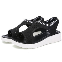 new women sandals casual flat platform summer shoes women comfortable breathable sandals beach shoes big size 35-45