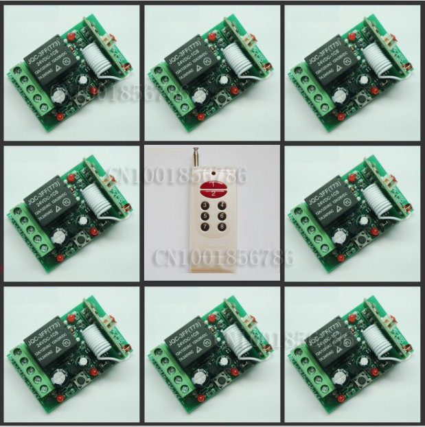 HOT!DC24V 8CH RF wireless remote control switch system Receiver&Transmitter Momentary Toggle Latched Adjust Learning 3 Indicator dc3 5v rf wireless radio remote control switch universal remote control lighting long distance 315 433 momentary toggle latched