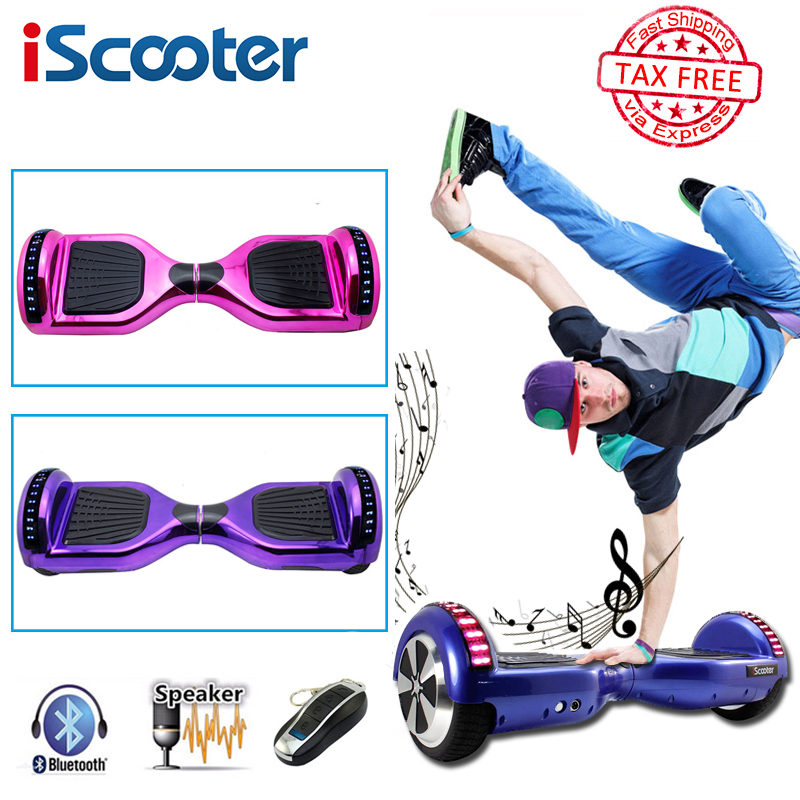 iScooter hoverboard electric skateboard with bluetooth and remote smart two wheel self balance 6.5 inch gyroscooter have UL2722