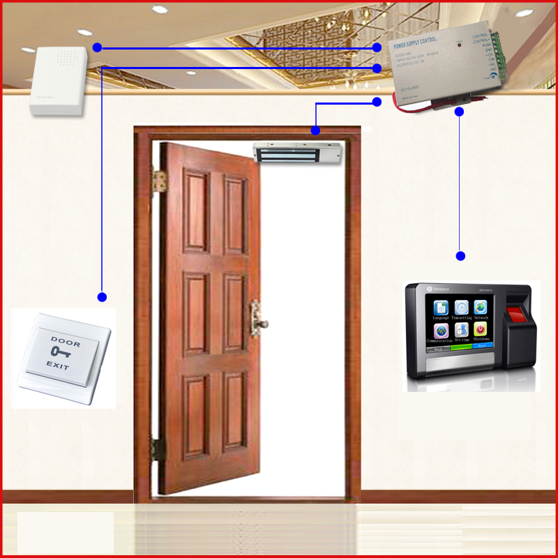 High Quality TCP/IP & RS 485 Networking Biometric Fingerprint Door Entry Control System Kit with Maglock biometric fingerprint access controller tcp ip fingerprint door access control reader