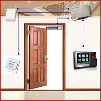 High Quality TCP/IP & RS 485 Networking Biometric Fingerprint Door Entry Control System Kit with Maglock