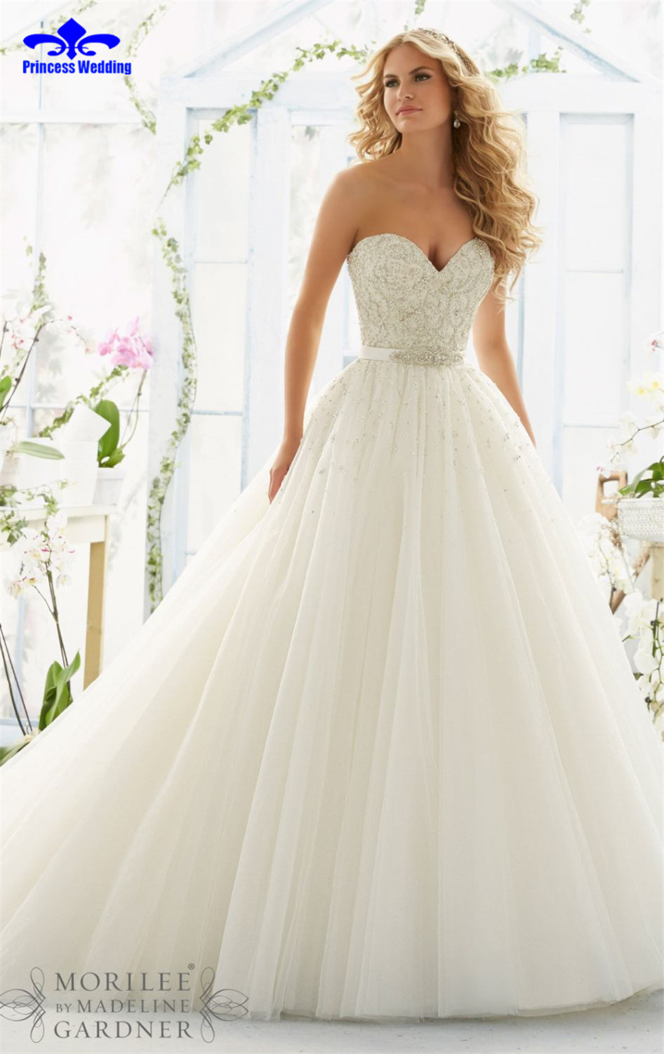 Ball Gown Wedding Dresses 2017 With Bling : Bling luxury crystals wedding dress gown bridal ball
