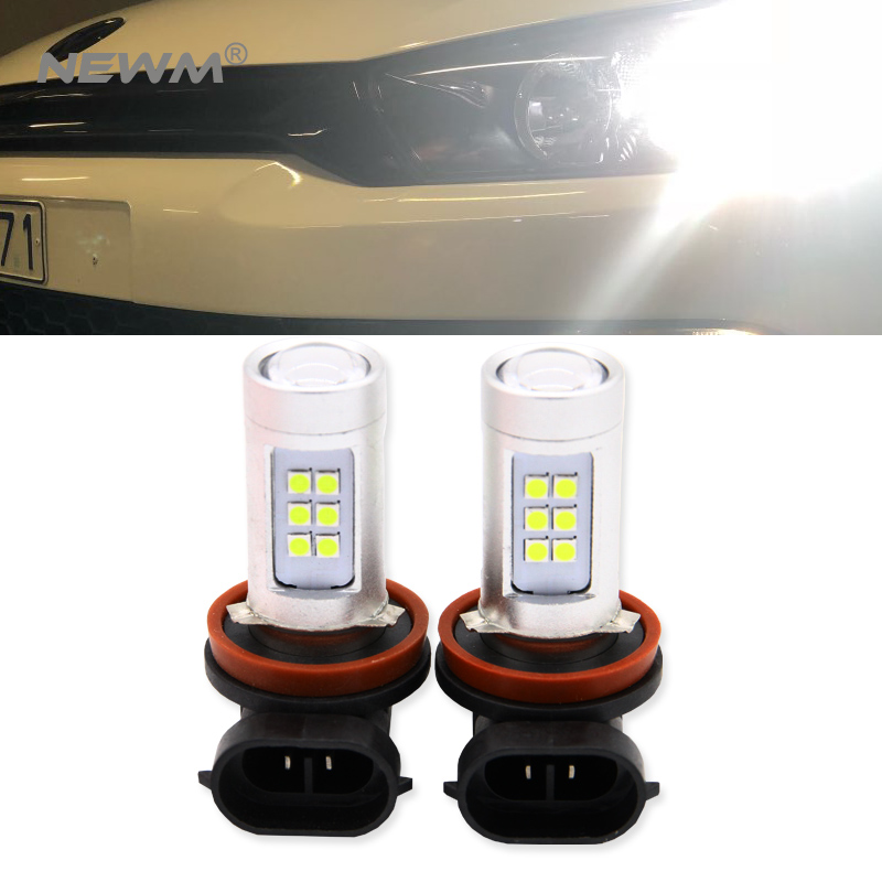 2pcs 9005 H8 H11 9006/HB4 Car Canbus Bulbs Reflector Mirror Design Fog Lights No Error For VW Golf 6 MK6 Scirocco T5 Transporter boaosi 2x h11 led canbus 5630 33 smd bulbs reflector mirror design for fog lights for mazda 3 5 6 cx 5 cx 7