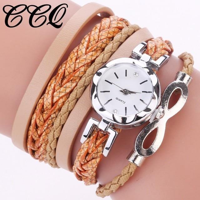 CCQ Brand Women Leather Bracelet Watch Fashion Casual Ladies Jewelry Dress Wrist