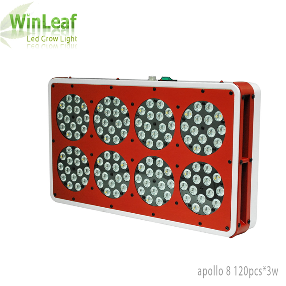 Apollo 8 Led Grow Lights Lamp for Plants 360W Full Spectrum Indoor Greenhouse Tent Hydroponic Medical LED Grow Light for plant 2pcs full spectrum led grow light 400w grow lights indoor plant lamp for plants flower greenhouse grow box tent bloom ae