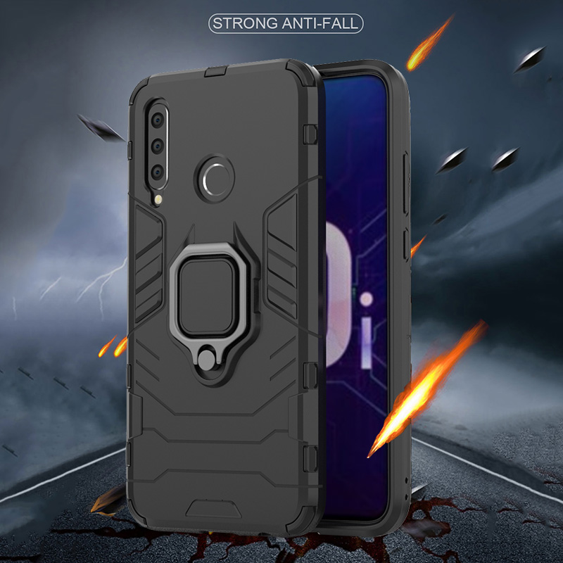 Image 2 - honor 10i Case For Huawei honor 10i case Shockproof Armor Ring Magnetic Car Hold Soft Bumper Cover For Huawei honor 10i Case-in Fitted Cases from Cellphones & Telecommunications