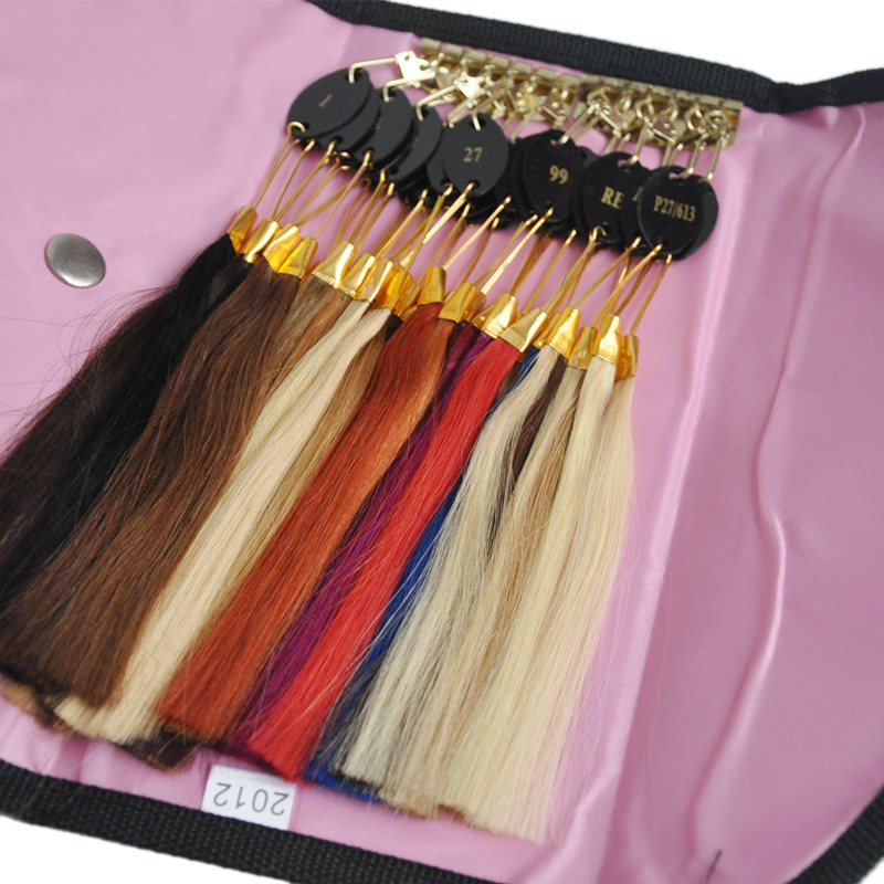 Human Hair Color Chart Extensions 32 Colors Hair Colour Chart Human Hair Color Ring Hair Extension Accessory Perfect Packaging