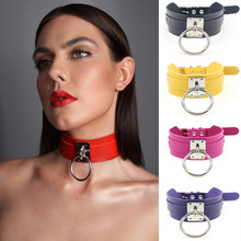 2019 New Fashion Sexy Harajuku  Choker Punk Leather Collar Necklace Silver Metal O-Round Torques Party Jewelry