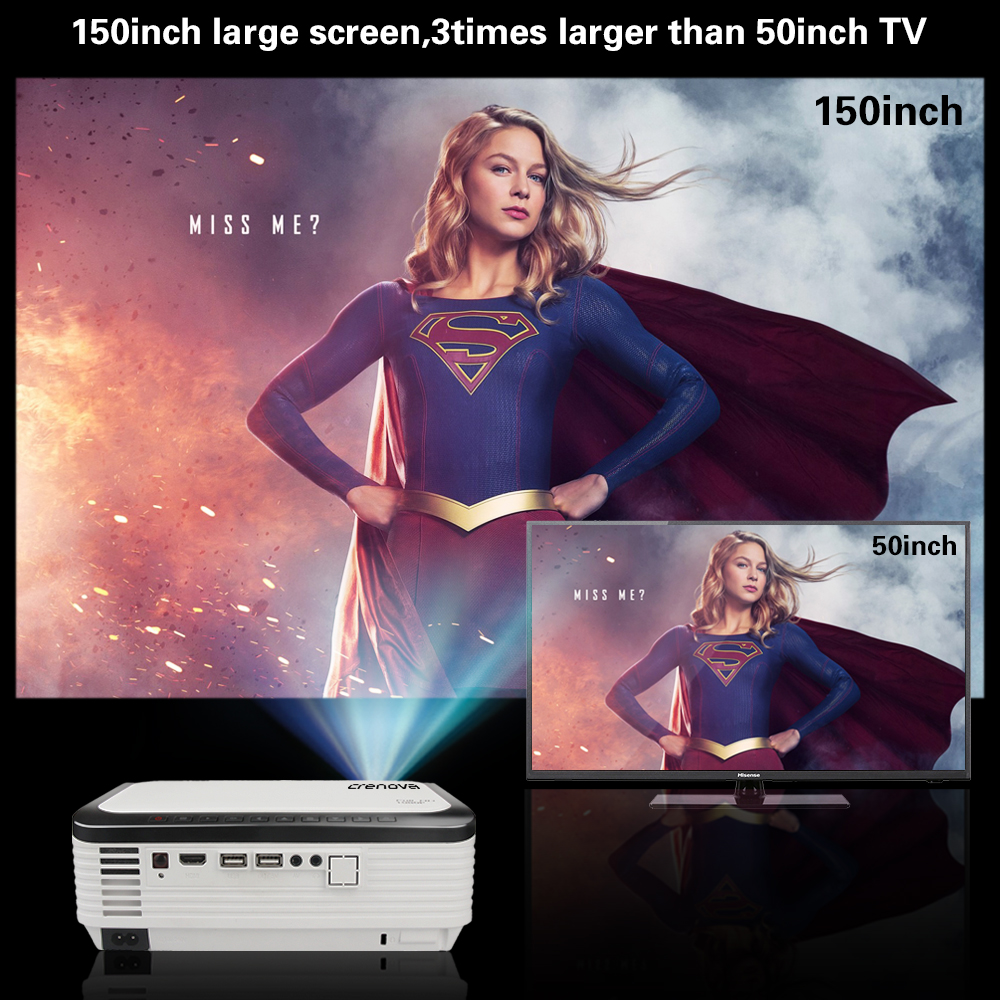 Image 2 - CRENOVA Newest Video Projector With Full HD 1080p Native Resolution For Home Cinema Movie Android Projector With Android 7.1.2-in LCD Projectors from Consumer Electronics