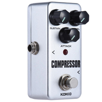 KOKKO Mini Compressor Effect Pedal Portable Guitar Effect Pedal FCP2 High Quality Chibson Guitar Parts Accessories