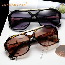 LongKeeper Oversized Sunglasses Men Women Luxury Retro Big Square Sun Glasses For Female Goggles UV400 Gafas De Sol