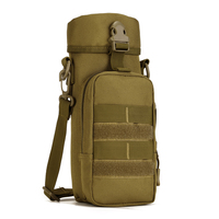 Pocket Outdoors Huge Water Bottle Pouch Molle Travel Camp Glass Cover Military Accessory Shoulder Bag Army Tactics Gear