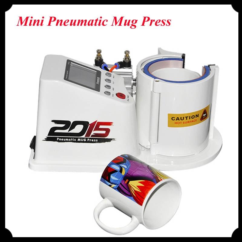 2016 Mini Pneumatic Vertical Heat Transfer Press Machine for Mug Cups Multi-Function Thermal Cup Printing Machine ST110 1 pcs 38 38cm small heat press machine hp230a