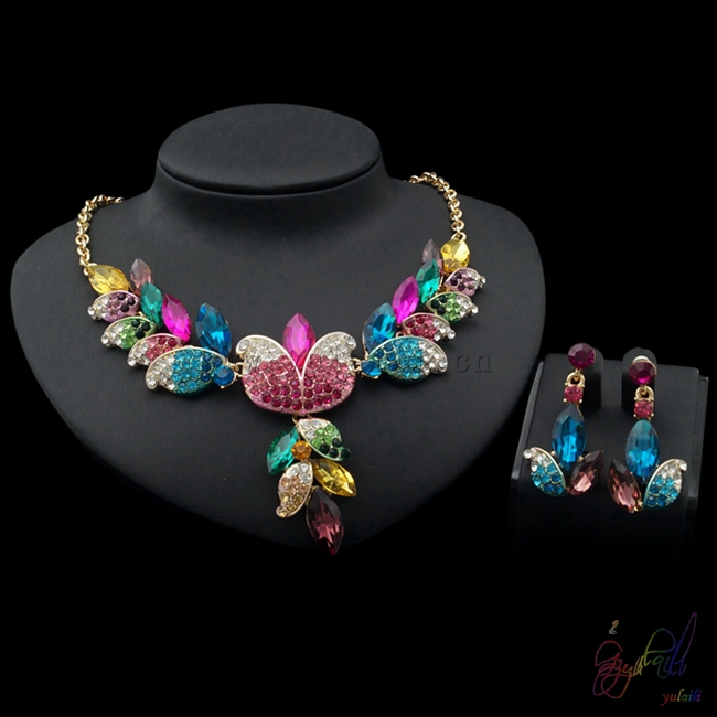 Yulaili Free Shipping Classical Flower Design High Quality Fashion Ladies Crystal Jewelry SetsYulaili Free Shipping Classical Flower Design High Quality Fashion Ladies Crystal Jewelry Sets