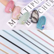 Japanese Colorful Nail Chain Flat Chain Metal Personality Chain Diy Nail Jewelry Accessories Nail Art Decoration(China)