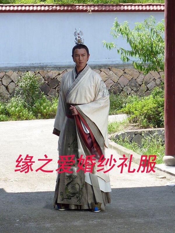 Hot prodaja visoke kvalitete hanfu muški kralj kostim Drevni kineski - Nacionalna odjeća - Foto 5