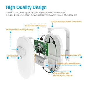 Image 2 - עמיד למים USB נטענת תאורה אחורית עבור אסלת עם תנועת חיישן 12 צבעים הופעל אמבטיה אסלת לילה אור